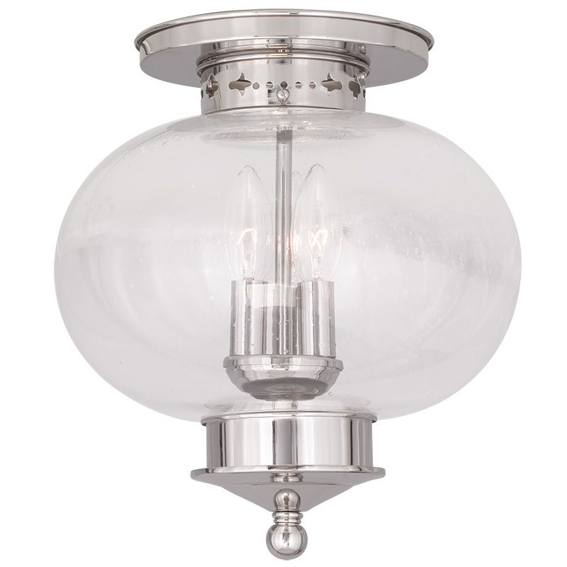 Livex Lighting 5037 Harbor 3 Light Semi-Flush Ceiling Fixture Polished