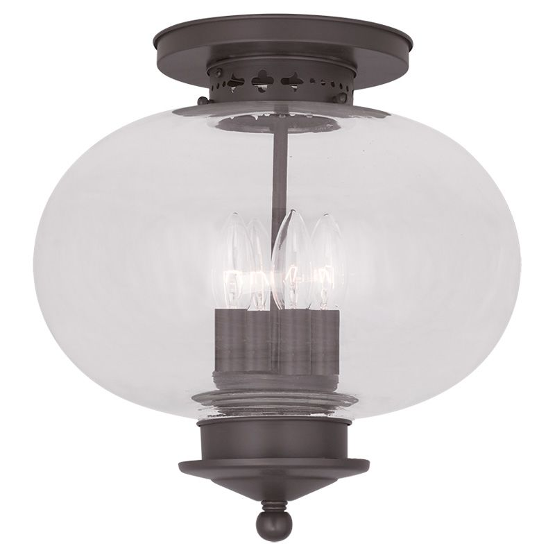 Livex Lighting 5039 Harbor 4 Light Semi-Flush Ceiling Fixture Bronze Sale $239.90 ITEM: bci2233200 ID#:5039-07 UPC: 847284034112 :