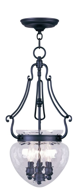 Livex Lighting 5043 Duchess 3 Light Pendant Black Indoor Lighting