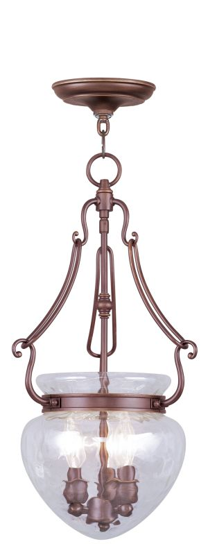 Livex Lighting 5043 Duchess 3 Light Pendant Vintage Bronze Indoor