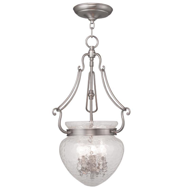 Livex Lighting 5043 Duchess 3 Light Pendant Brushed Nickel Indoor