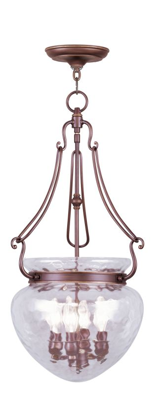 Livex Lighting 5044 Duchess 4 Light Pendant Vintage Bronze Indoor