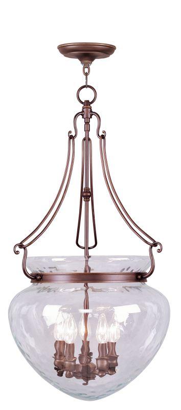 Livex Lighting 5045 Duchess 5 Light Pendant Vintage Bronze Indoor
