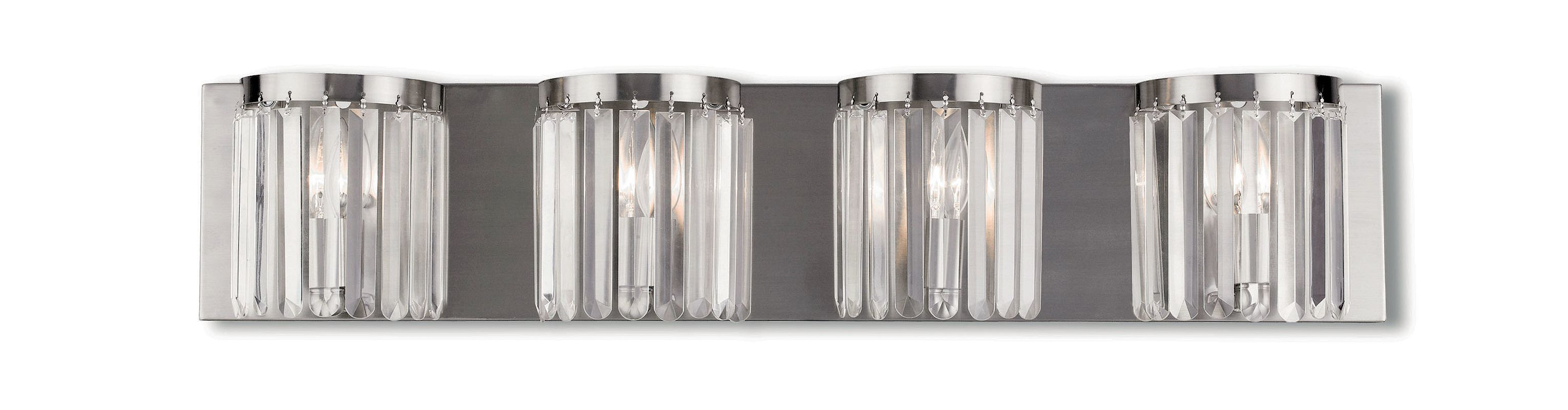 Livex Lighting 50534 Ashton 4 Light Vanity Light with Clear Crystal