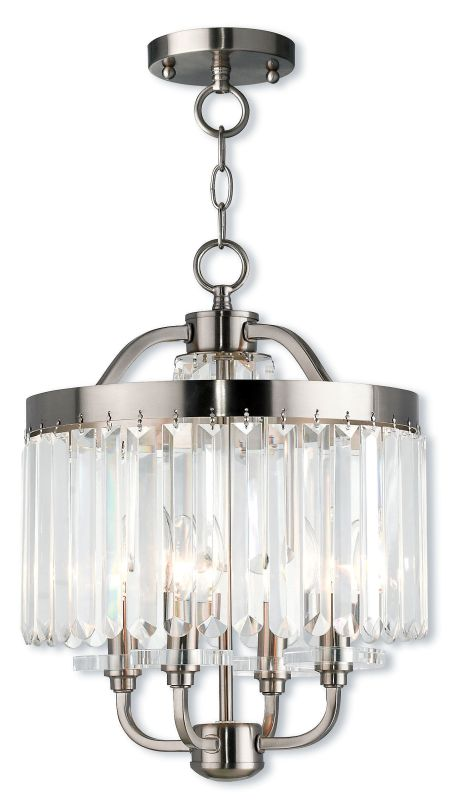 "Livex Lighting 50543 Ashton 4 Light 13"" Wide Chandelier with Clear"