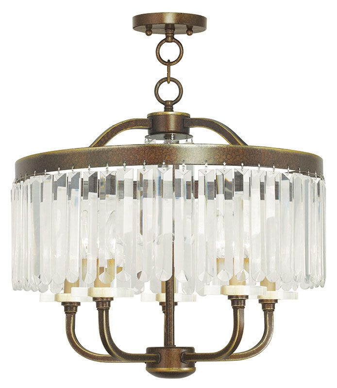 "Livex Lighting 50545 Ashton 5 Light 20"" Wide Chandelier with Clear"