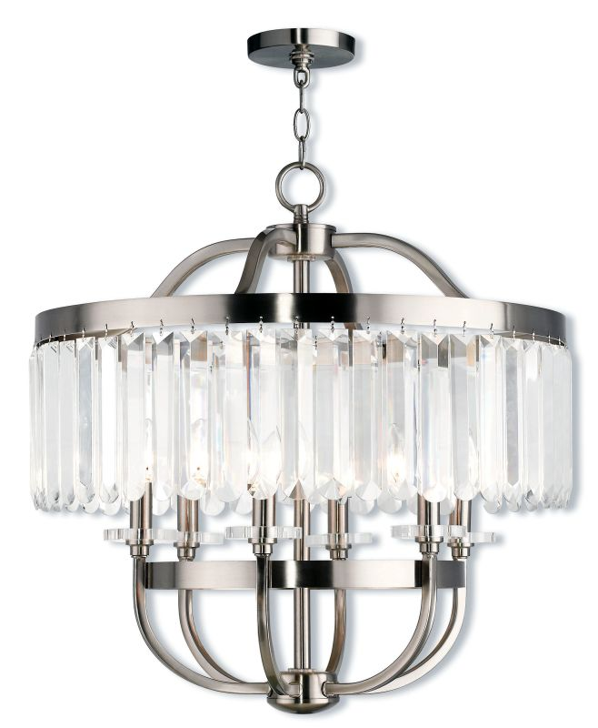 "Livex Lighting 50546 Ashton 6 Light 24"" Wide Chandelier with Clear"