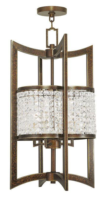 Livex Lighting 50567 Grammercy 4 Light Semi-Flush Ceiling Fixture Hand