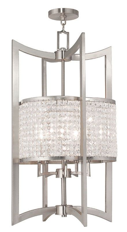 Livex Lighting 50569 Grammercy 5 Light Semi-Flush Ceiling Fixture