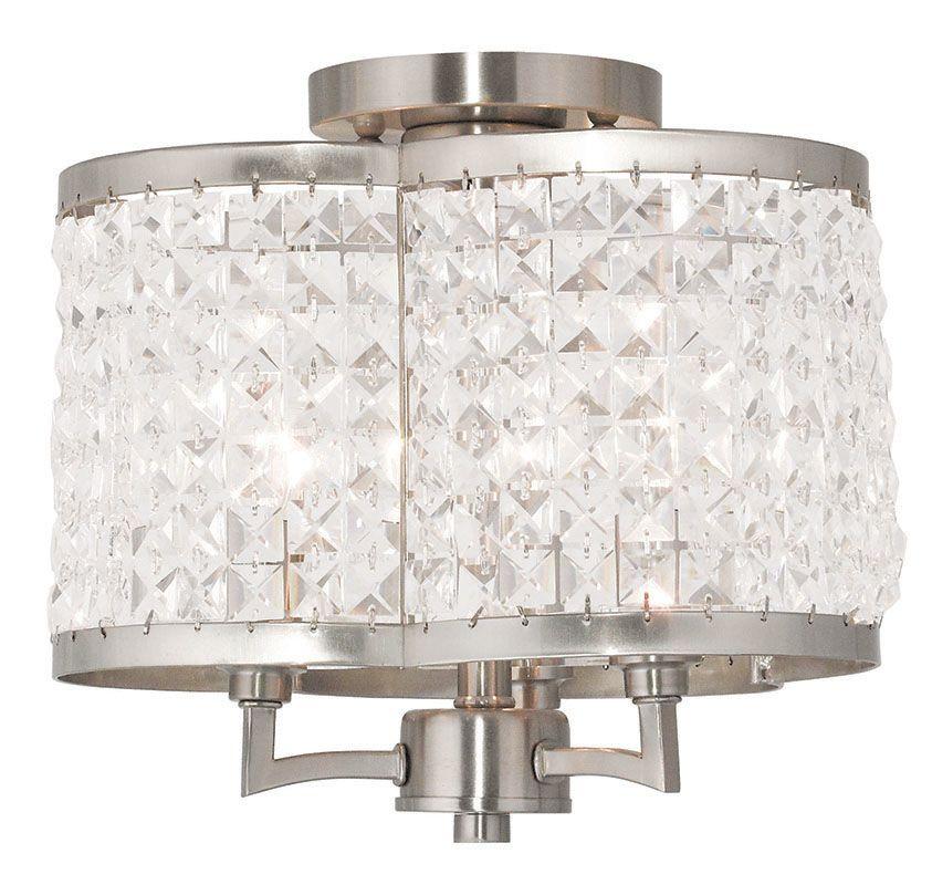 Livex Lighting 50573 Grammercy 3 Light Flush Mount Ceiling Fixture