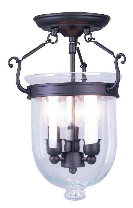 Livex Lighting 5061 Jefferson 3 Light Semi-Flush Ceiling Fixture