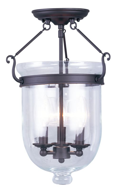 Livex Lighting 5062 Jefferson 3 Light Semi-Flush Ceiling Fixture