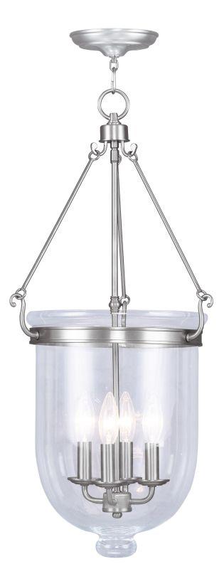 Livex Lighting 5065 Jefferson 4 Light Pendant Brushed Nickel Indoor