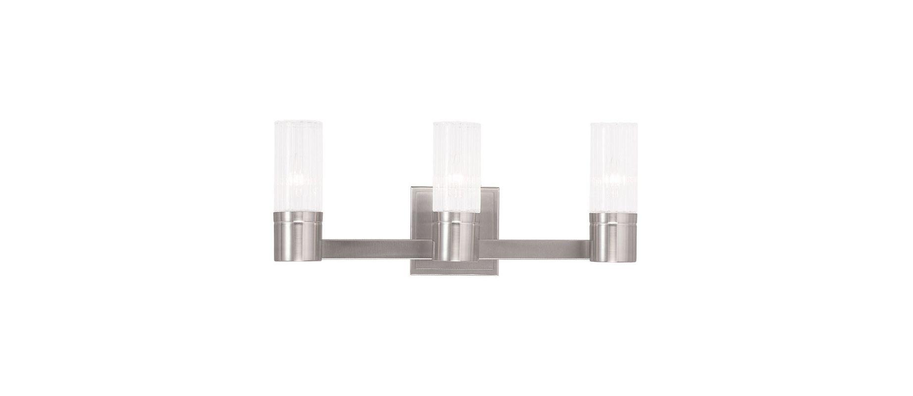 Livex Lighting 50683 Midtown 3 Light ADA Compliant Bathroom Vanity