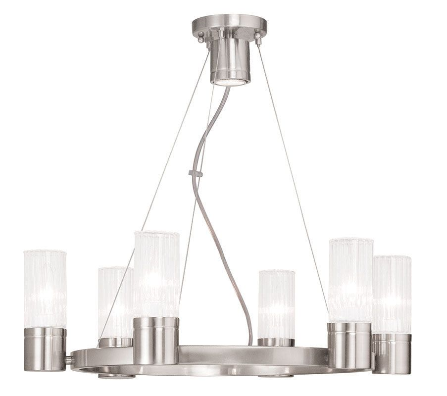 Livex Lighting 50696 Midtown 6 Light 1 Tier Chandelier Brushed Nickel Sale $479.90 ITEM: bci2545681 ID#:50696-91 UPC: 847284041554 :