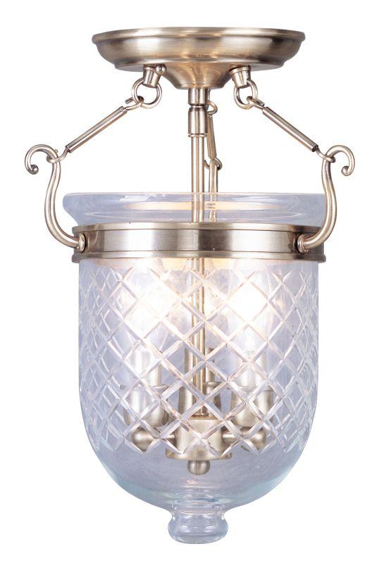Livex Lighting 5071 Jefferson 3 Light Semi-Flush Ceiling Fixture Sale $299.90 ITEM: bci2307542 ID#:5071-01 UPC: 847284017047 :
