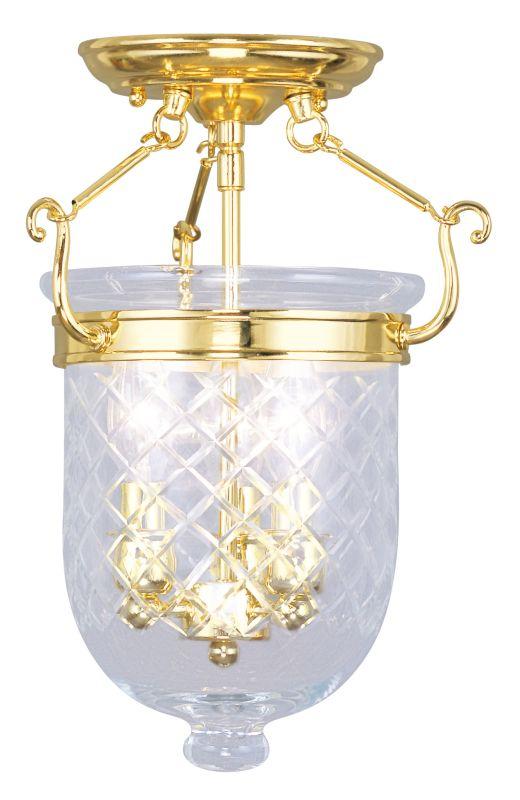 Livex Lighting 5071 Jefferson 3 Light Semi-Flush Ceiling Fixture