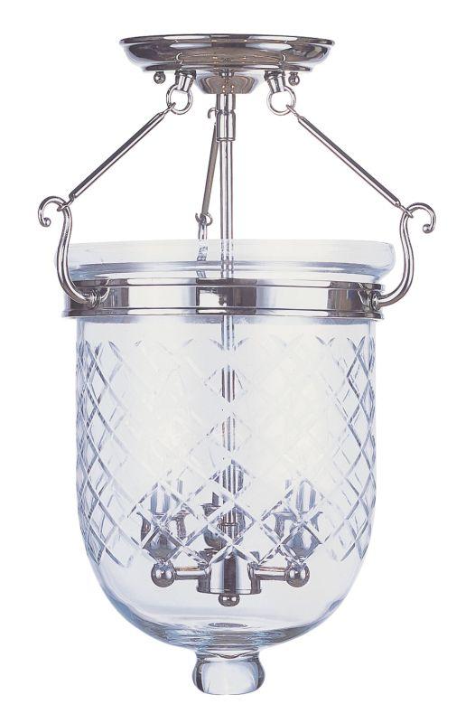 Livex Lighting 5072 Jefferson 3 Light Semi-Flush Ceiling Fixture Sale $339.90 ITEM: bci2307550 ID#:5072-35 UPC: 847284017122 :