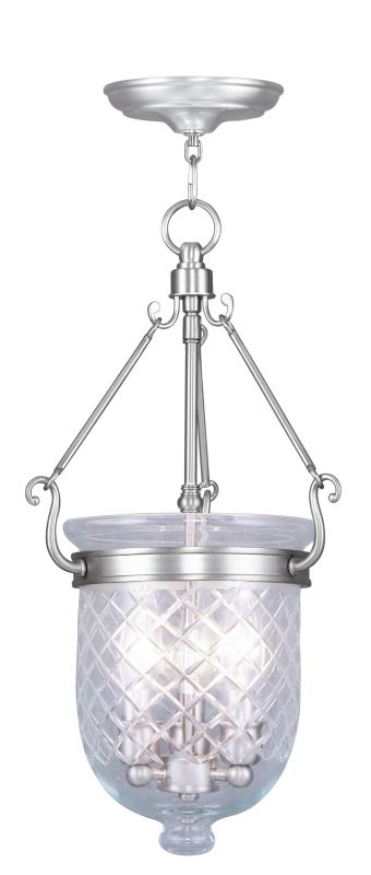 Livex Lighting 5073 Jefferson 3 Light Mini Pendant Brushed Nickel