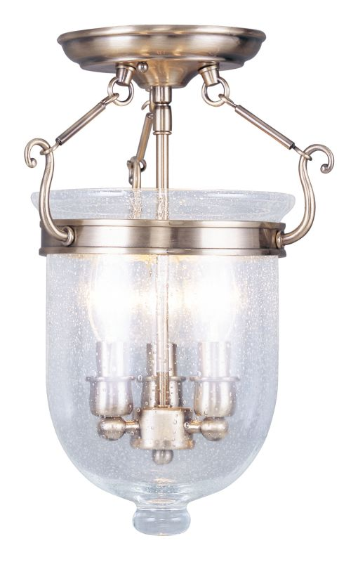 Livex Lighting 5081 Jefferson 3 Light Semi-Flush Ceiling Fixture Sale $199.90 ITEM: bci2307264 ID#:5081-01 UPC: 847284017290 :
