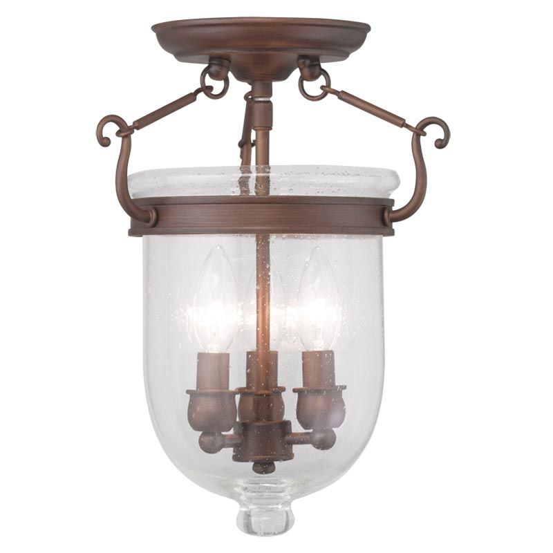 Livex Lighting 5081 Jefferson 3 Light Semi-Flush Ceiling Fixture Sale $199.90 ITEM: bci2233221 ID#:5081-70 UPC: 847284034808 :