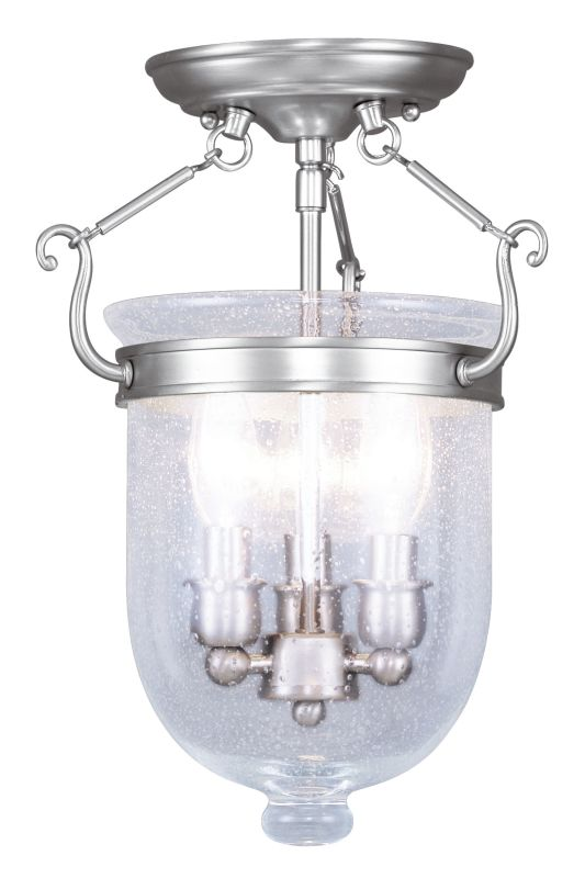Livex Lighting 5081 Jefferson 3 Light Semi-Flush Ceiling Fixture Sale $199.90 ITEM: bci2307268 ID#:5081-91 UPC: 847284001824 :