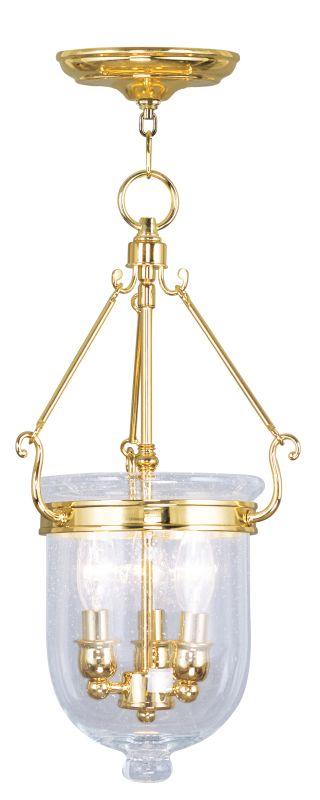 Livex Lighting 5083 Jefferson 3 Light Mini Pendant Polished Brass