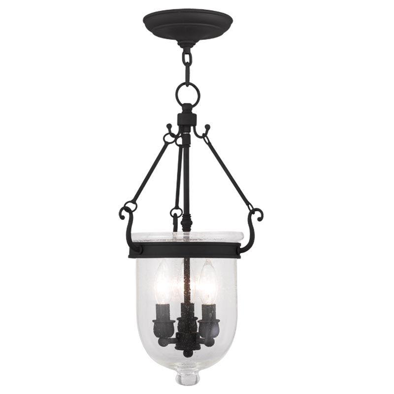 Livex Lighting 5083 Jefferson 3 Light Mini Pendant Black Indoor
