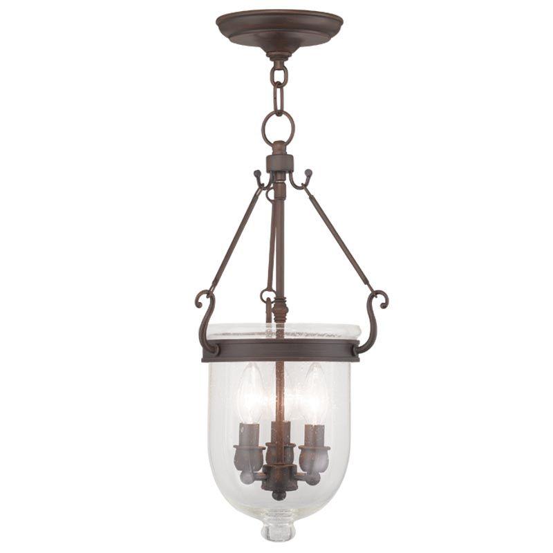 Livex Lighting 5083 Jefferson 3 Light Mini Pendant Imperial Bronze