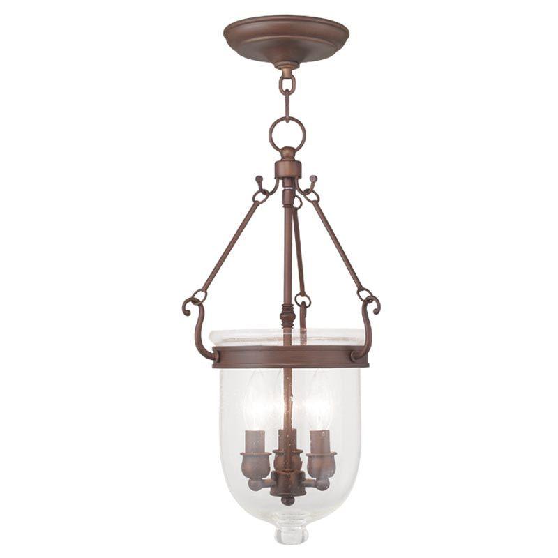 Livex Lighting 5083 Jefferson 3 Light Mini Pendant Vintage Bronze