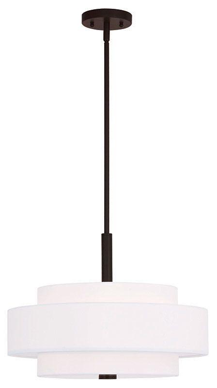 Livex Lighting 50874 Meridian 4 Light Drum Pendant Bronze Indoor Sale $249.90 ITEM: bci2545721 ID#:50874-07 UPC: 847284041202 :
