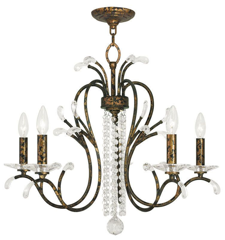 Livex Lighting 51005 Serafina 5 Light 1 Tier Crystal Candle Style