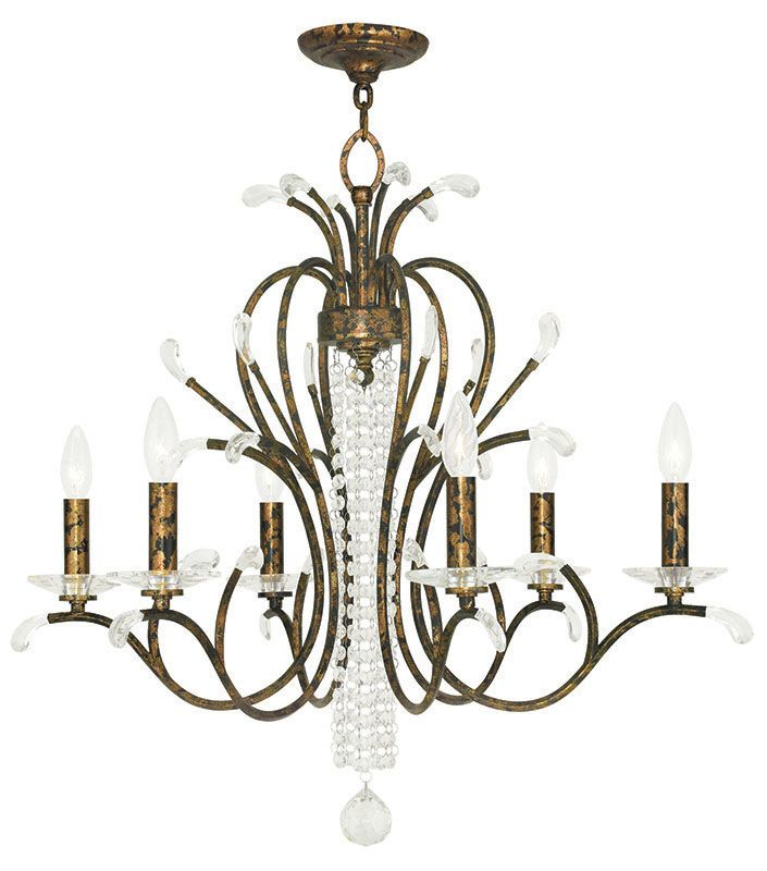 Livex Lighting 51006 Serafina 6 Light 1 Tier Crystal Candle Style