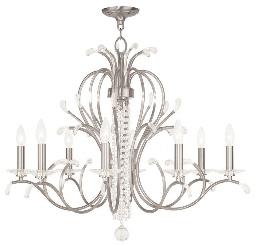 Livex Lighting 51008 Serafina 8 Light 1 Tier Crystal Candle Style
