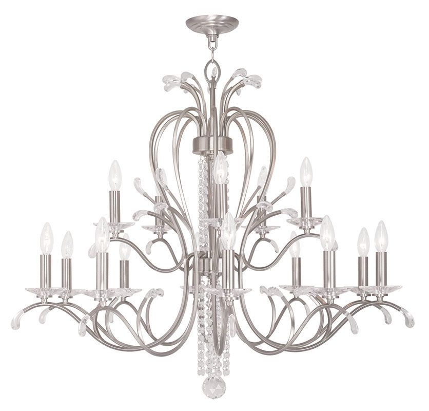 Livex Lighting 51009 Serafina 15 Light 2 Tier Crystal Candle Style