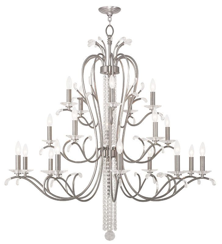 Livex Lighting 51010 Serafina 20 Light 3 Tier Crystal Candle Style