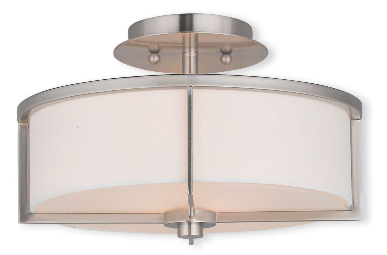 Livex Lighting 51073 Wesley 2 Light Semi Flush Ceiling Fixture Brushed Sale $179.90 ITEM: bci2740552 ID#:51073-91 UPC: 847284047051 :