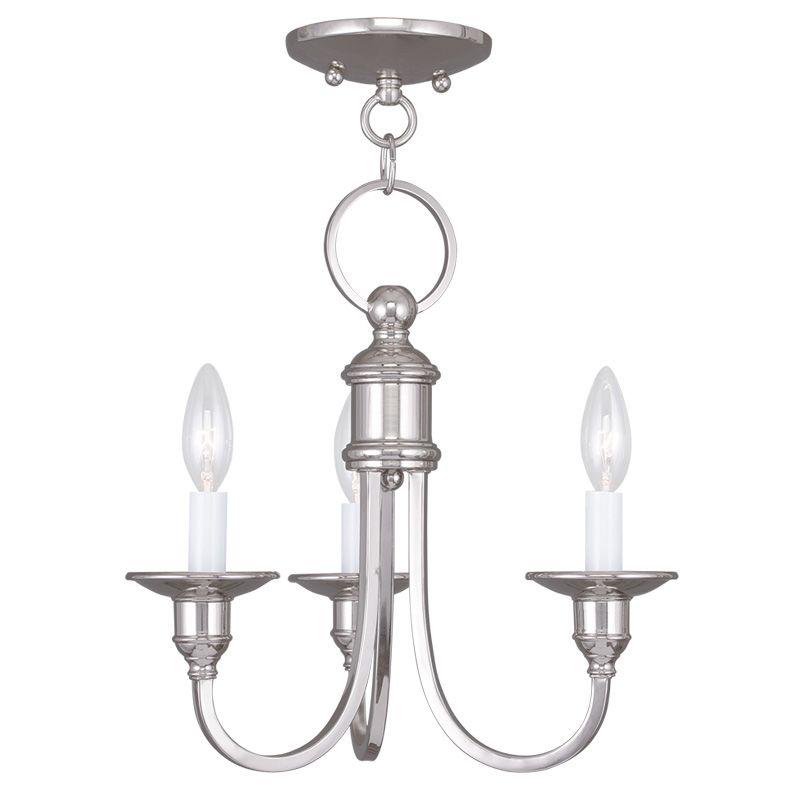 Livex Lighting 5143 Cranford 3 Light 1 Tier Chandelier Polished Nickel Sale $199.90 ITEM: bci2232742 ID#:5143-35 UPC: 847284035928 :