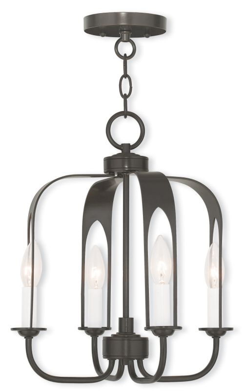 Livex Lighting 51934 Addison Convertible 4 Light 1 Tier Chandelier /