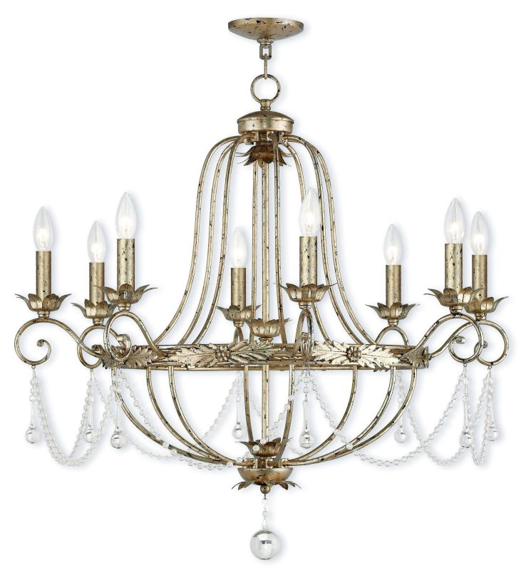 "Livex Lighting 51958 Sophia 8 Light 32"" Wide Candle Style Chandelier"