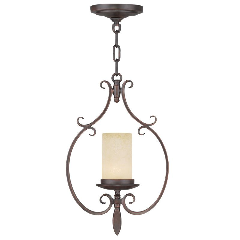 Livex Lighting 5480 Millburn Manor 1 Light Pendant Imperial Bronze Sale $199.90 ITEM: bci2232774 ID#:5480-58 UPC: 847284036529 :