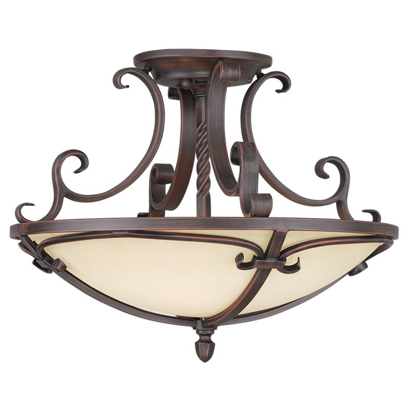 Livex Lighting 5484 Millburn Manor 4 Light Semi-Flush Ceiling Fixture Sale $339.90 ITEM: bci2232778 ID#:5484-58 UPC: 847284036598 :