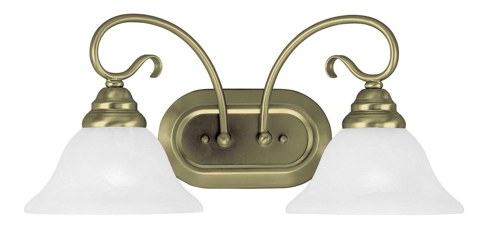 Livex Lighting 6102-01 Antique Brass Coronado 2 Light