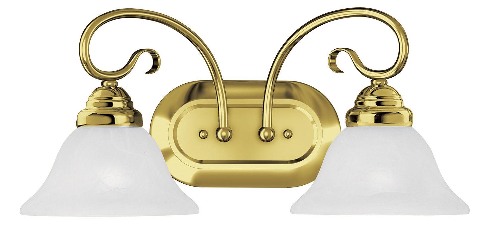 Livex Lighting 6102 Coronado 2 Light Bathroom Vanity Light Polished