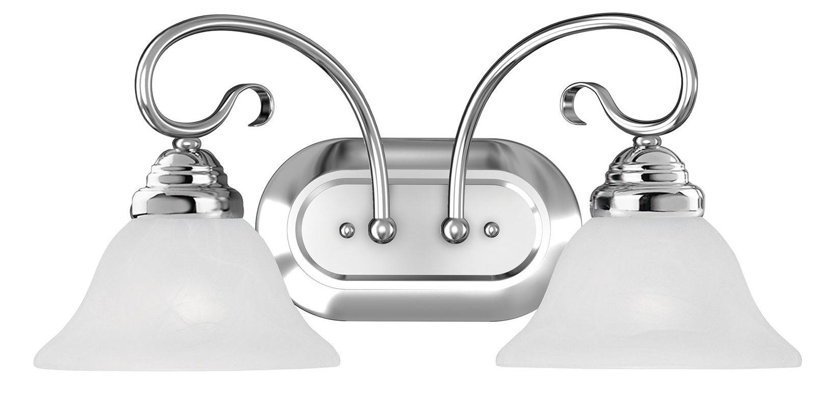 Livex Lighting 6102 Coronado 2 Light Bathroom Vanity Light Chrome