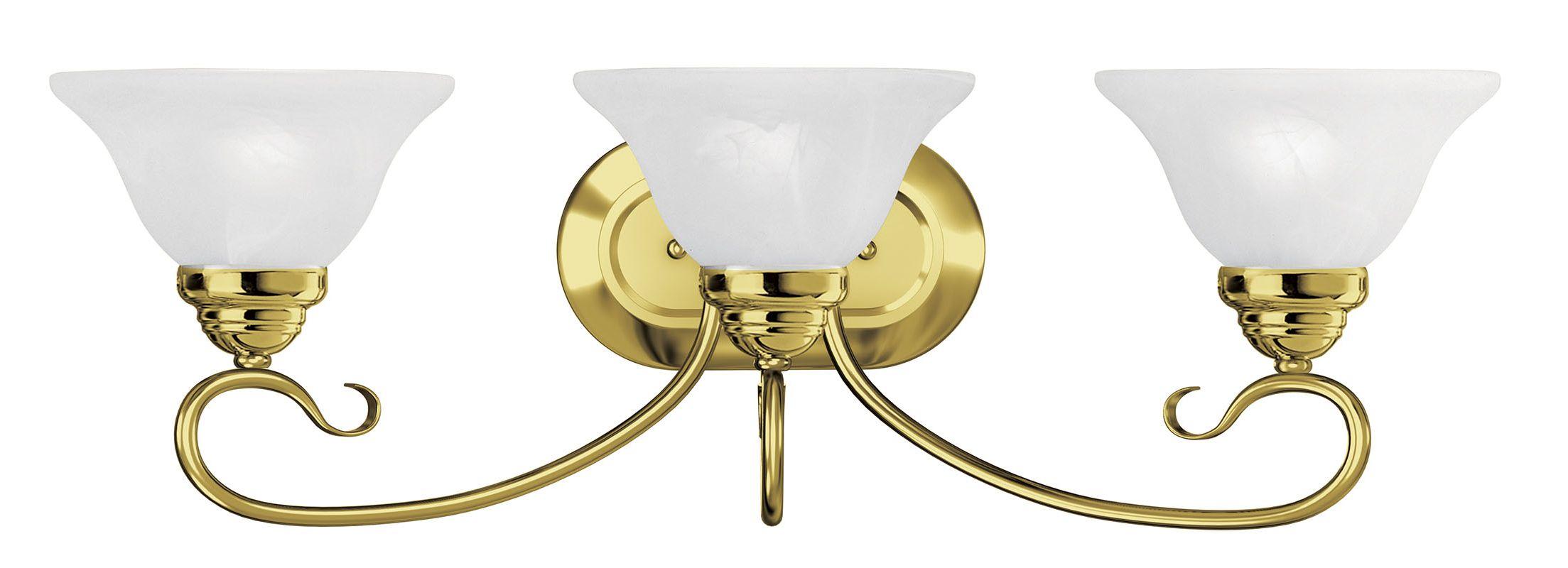 Livex Lighting 6103 Coronado 3 Light Bathroom Vanity Light Polished