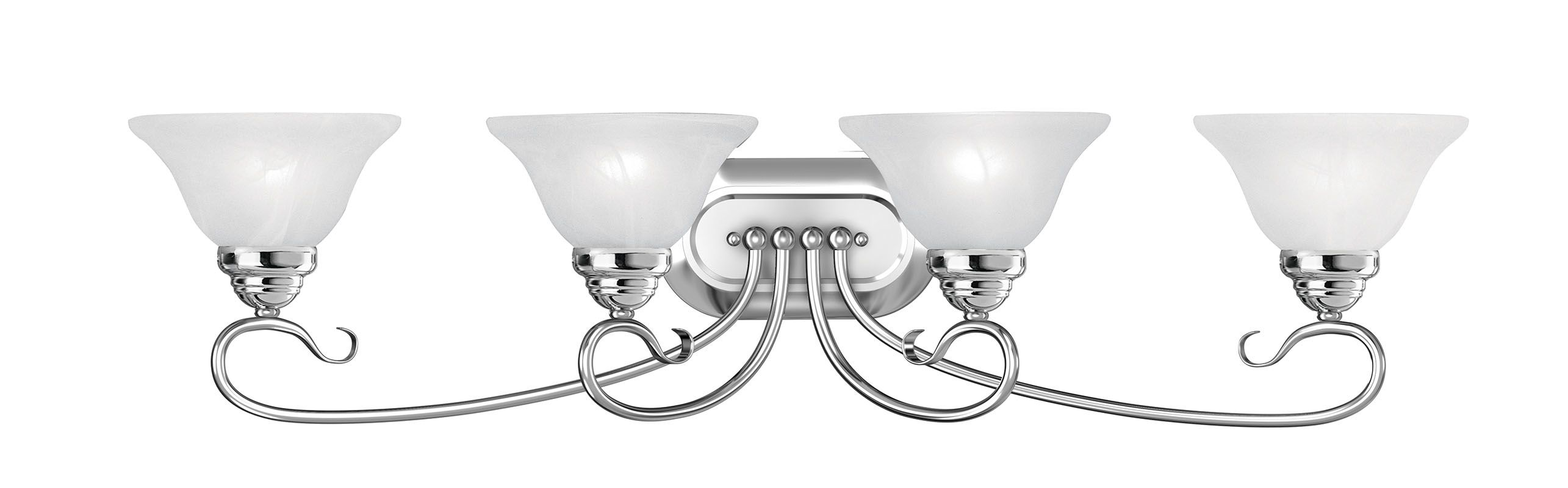 Livex Lighting 6104 Coronado 4 Light Bathroom Vanity Light Chrome