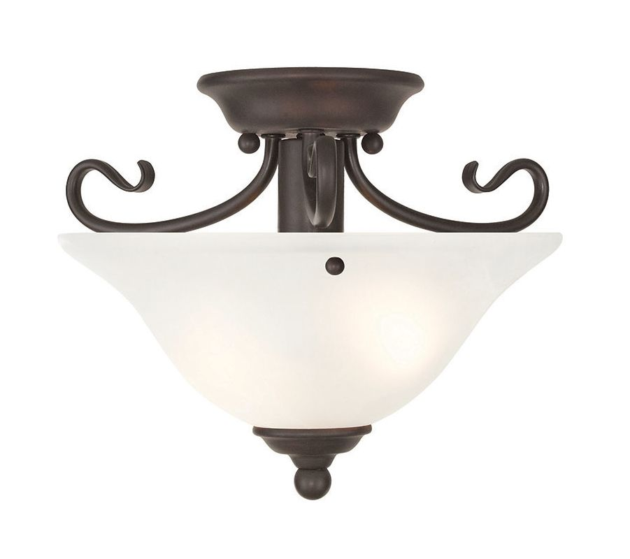 Livex Lighting 6109 Coronado 1 Light Semi-Flush Ceiling Fixture Bronze Sale $109.90 ITEM: bci2545766 ID#:6109-07 UPC: 847284043886 :