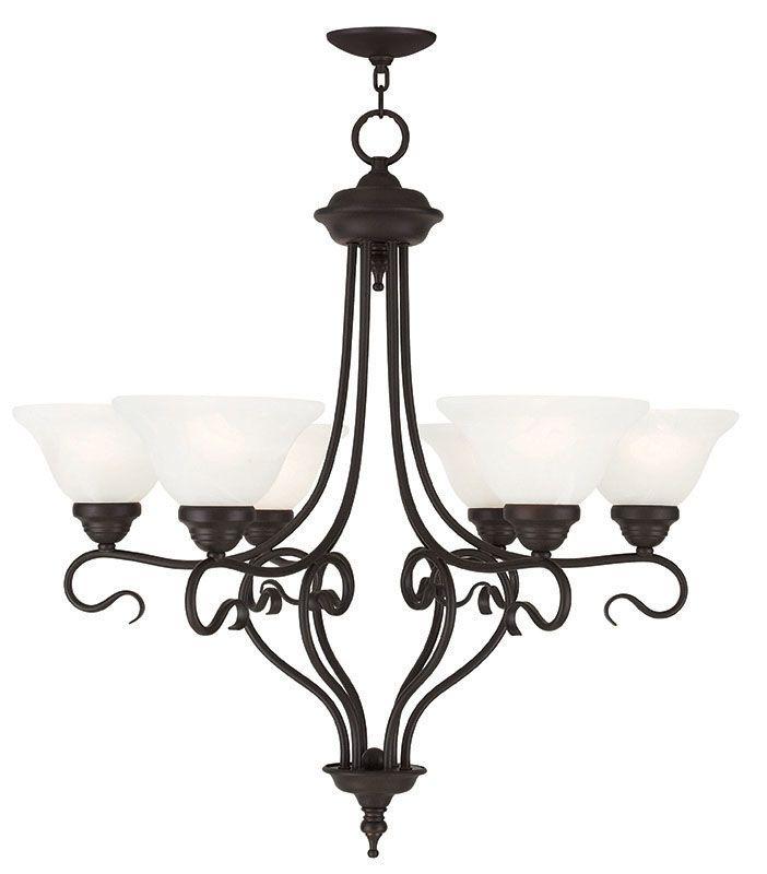 Livex Lighting 6126 Coronado 6 Light 1 Tier Chandelier Bronze Indoor Sale $299.90 ITEM: bci2545777 ID#:6126-07 UPC: 847284043992 :