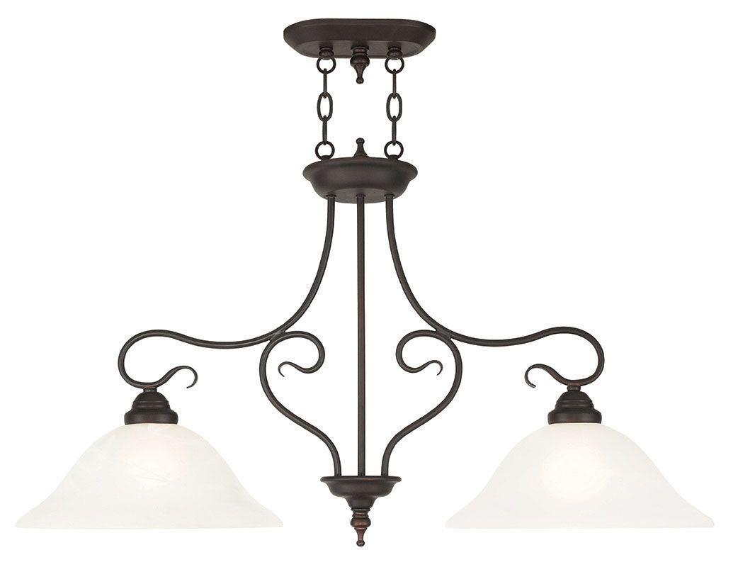 Livex Lighting 6132 Coronado 2 Light 1 Tier Linear Chandelier Bronze